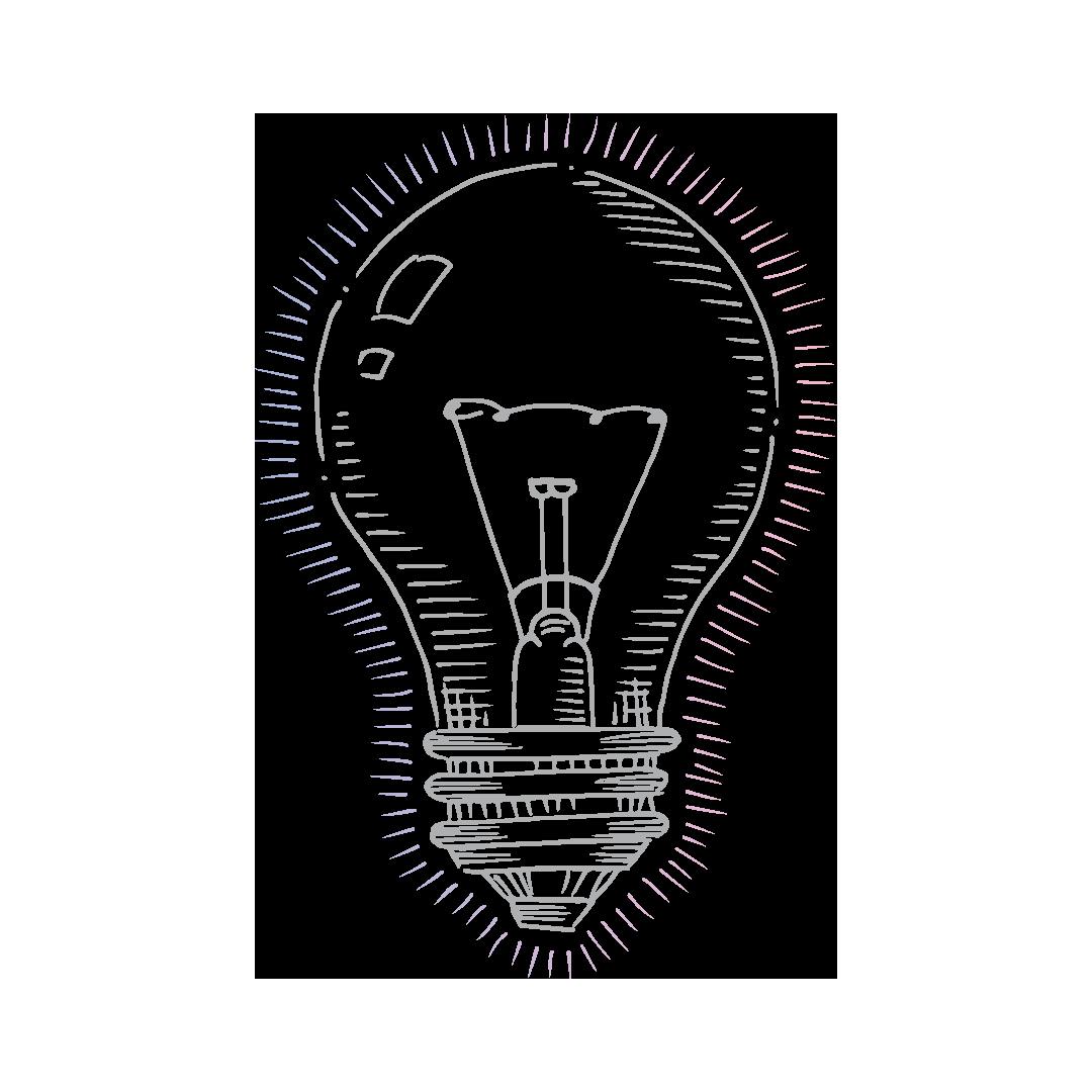 Dekorative Darstellung einer Glühbirne - Sinnbild einer Idee während der Patentanmeldung
